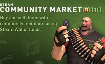 Старт бета-тест сервиса Steam Community Market